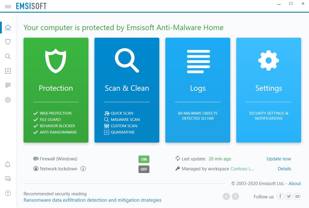 صفحه اصلی آنتی ویروس امسی سافت