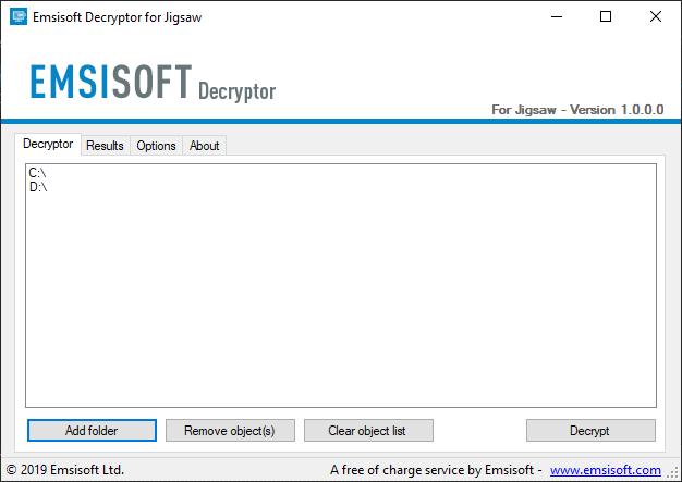 ابزار رمزگشای باج افزار jigsaw