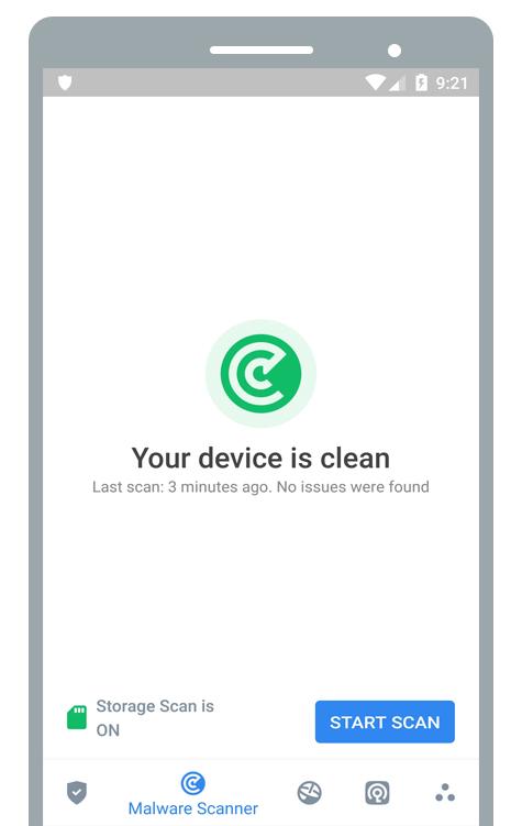 آنتی ویروس اندروید، اسکن فایل ها